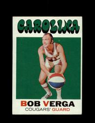 1971 BOB VERGA TOPPS #167 COUGARS *6550