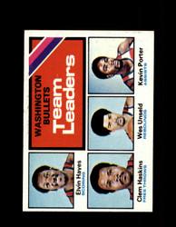 1975 BULLETS TOPPS #133 TEAM LEADERS *6327