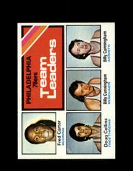 1975 76ERS TOPPS #129 TEAM LEADERS *6331
