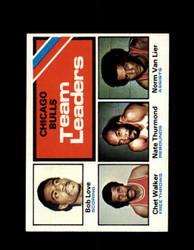 1975 BULLS TOPPS #119 TEAM LEADERS *6340