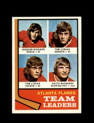 1974 ATLANTA FLAMES TOPPS #14 TEAM LEADERS *7816