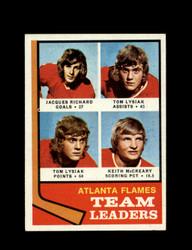 1974 ATLANTA FLAMES TOPPS #14 TEAM LEADERS *7814