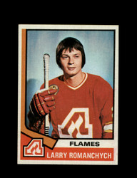1974 LARRY ROMANCHYCH TOPPS #157 FLAMES *6113