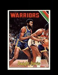 1975 DWIGHT DAVIS TOPPS #11 WARRIORS *3496