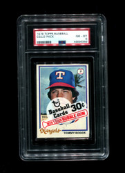 1978 CELLO PACK TOPPS BASEBALL TOMMY BOGGS-TOP PSA 8