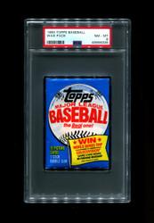 1983 TOPPS BASEBALL WAX PACK PSA 8