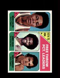 1975 FREE THROW LEADERS TOPPS #224 CALVIN *6323