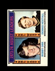 1974 ASSIST LEADERS TOPPS #2 ORR/HEXTALL *4838