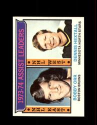 1974 ASSIST LEADERS TOPPS #2 ORR/HEXTALL *8146