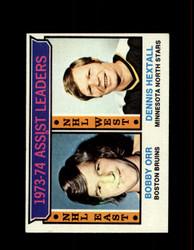 1974 ASSIST LEADERS TOPPS #2 ORR/HEXTALL *8209