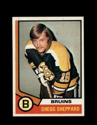 1974 GREGG SHEPPARD TOPPS #184 BRUINS *R1560
