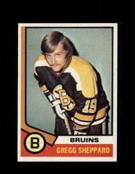 1974 GREGG SHEPPARD TOPPS #184 BRUINS *R5245