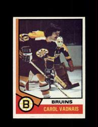 1974 CAROL VADNAIS TOPPS #165 BRUINS *R4417