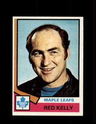 1974 RED KELLY TOPPS #76 MAPLE LEAFS *R2865