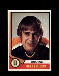 1974 GILLES GILBERT TOPPS #10 BRUINS *1653