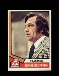 1974 BERNIE GEOFFRION TOPPS #147 FLAMES *R3206