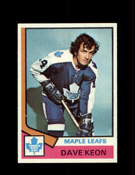 1974 DAVE KEON TOPPS #151 MAPLE LEAFS *8984