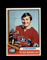 1974 PETER MAHOVLICH TOPPS #97 CANADIENS *R3152