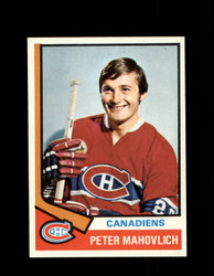 1974 PETER MAHOVLICH TOPPS #97 CANADIENS *R4774