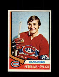 1974 PETER MAHOVLICH TOPPS #97 CANADIENS *4583
