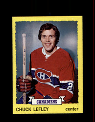 1973 CHUCK LEFLEY TOPPS #154 CANADIENS *G3824