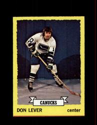 1973 DON LEVER TOPPS #111 CANUCKS *2356