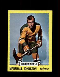 1973 MARSHAL JOHNSTON TOPPS #21 GOLDEN SEALS *R5026