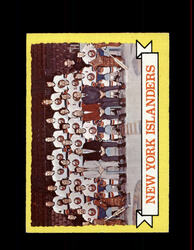 1973 NEW YORK ISLANDERS TOPPS #101 TEAM CARD *4130