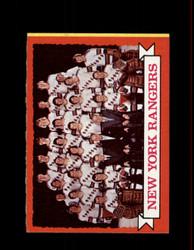 1973 NEW YORK RANGERS TOPPS #102 TEAM CARD *5340