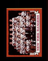 1973 NEW YORK RANGERS TOPPS #102 TEAM CARD *9855