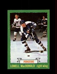 1973 LOWELL MACDONALD TOPPS #128 PENGUINS *7297