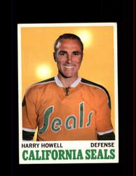 1970 HARRY HOWELL TOPPS #72 SEALS *6805
