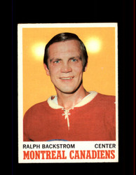 1970 RALPH BACKSTROM TOPPS #54 CANADIENS *R1971