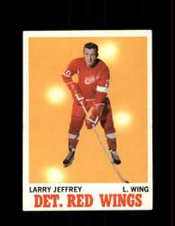 1970 LARRY JEFFREY TOPPS #28 RED WINGS *R1691