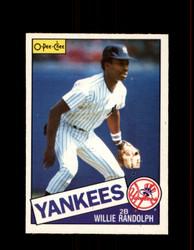 1985 WILLIE RANDOLPH OPC #8 O-PEE-CHEE YANKEES *G6469