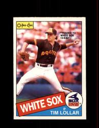 1985 TIM LOLLAR OPC #13 O-PEE-CHEE WHITE SOX *R5066