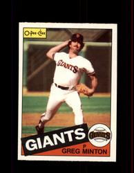 1985 GREG MINTON  OPC #45 O-PEE-CHEE GIANTS *2296