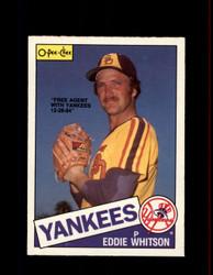 1985 EDDIE WHITSON OPC #98 O-PEE-CHEE YANKEES *6741