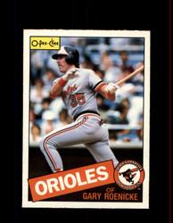 1985 GARY ROENICKE OPC #109 O-PEE-CHEE ORIOLES *8686