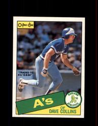 1985 DAVE COLLINS OPC #164 O-PEE-CHEE ATHLETICS *R1434