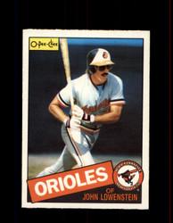 1985 JOHN LOWENSTEIN OPC #316 O-PEE-CHEE ORIOLES *G2082
