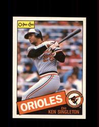 1985 KEN SINGLETON OPC #326 O-PEE-CHEE ORIOLES *G2089