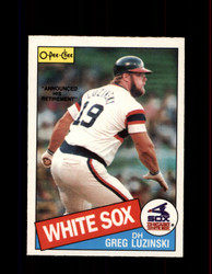 1985 GREG LUZINSKI OPC #328 O-PEE-CHEE WHITE SOX *G2091