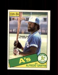 1985 ALFREDO GRIFFIN OPC #361 O-PEE-CHEE ATHLETICS *G2160