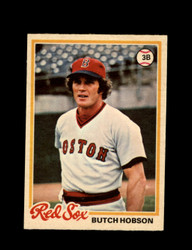 1978 BUTCH HOBSON OPC #187 O-PEE-CHEE RED SOX *G2118