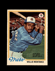 1978 WILLIE MONTANEZ OPC #43 O-PEE-CHEE METS *G2126