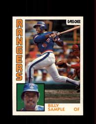 1984 BILLY SAMPLE OPC #12 O-PEE-CHEE RANGERS *G2200
