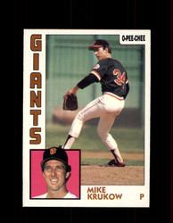 1984 MIKE KRUKOW OPC #37 O-PEE-CHEE GIANTS *G2220