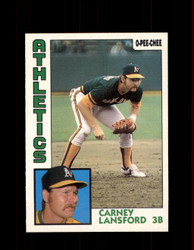 1984 CARNEY LANSFORD OPC #59 O-PEE-CHEE ATHLETICS *G2235