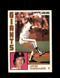 1984 ATLEE HAMMAKER OPC #85 O-PEE-CHEE GIANTS *G2254
